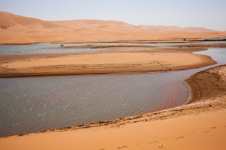 Temporal lakes as a result of rainfalls