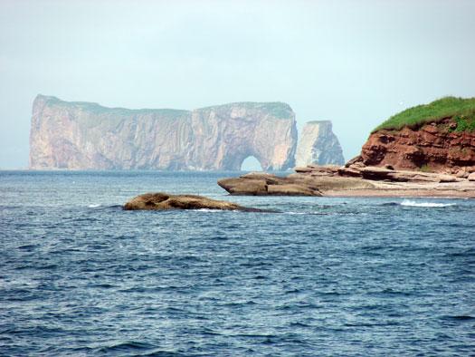Le célèbre Rocher Percé en Gaspésie au Québec
