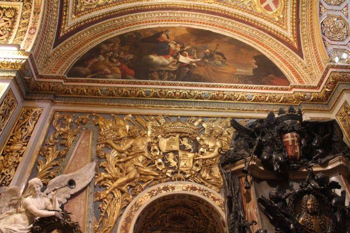 Escudo Castilla y León, Concatedral de San Juan, Valletta, Malta
