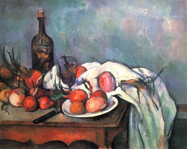 Paul Cézanne Nature morte aux onions, 1896-1898