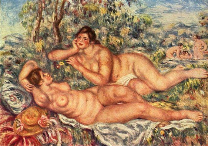 Pierre Auguste Renoir Les Baigneurs, 1918-1919