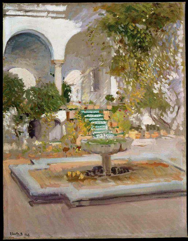 Joaquín Sorolla. El grutesco, Alcázar de Sevilla. 1908. Museo Sorolla de Madrid