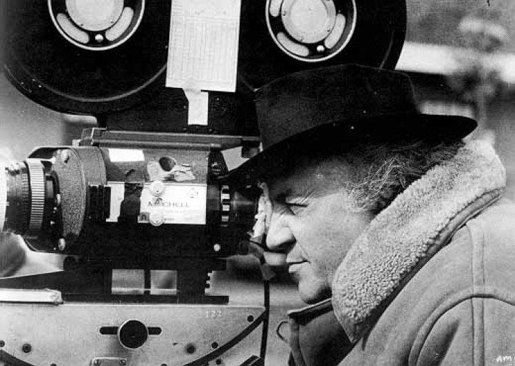 Fellini mientras rodaba Amarcord