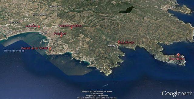 Mapa ruta por Roses