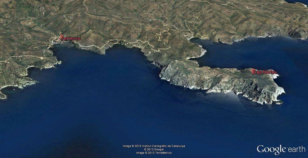 Mapa de situación de Cap Norfeu y Cala Montjoi