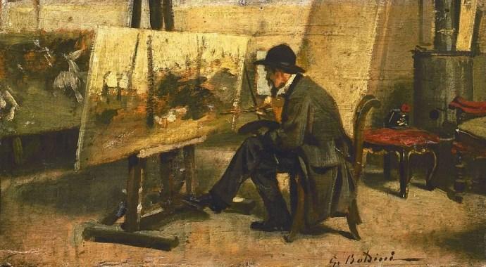 Giovanni Boldini, Giovanni Fattori en su taller