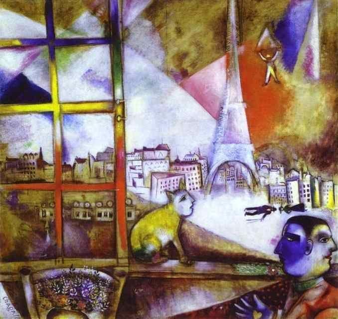 Chagall, Paris a la finestre