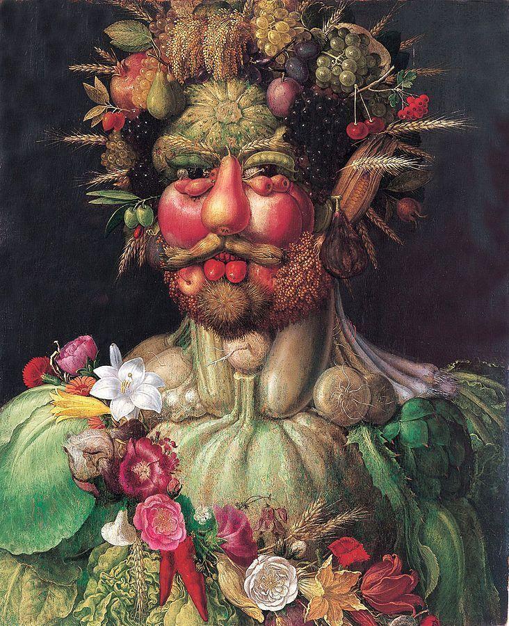 Arcimboldo, Emperador Rodolfo II como Vertumno, 1590, Colección particular.