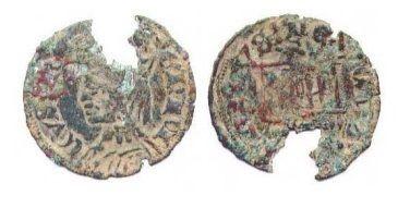 Moneda de la época de Enrique II.