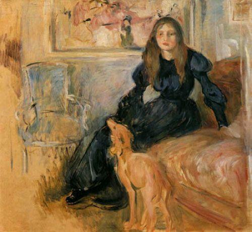 Berthe Morisot, Julie Manet y su galgo Laërtes, 1893