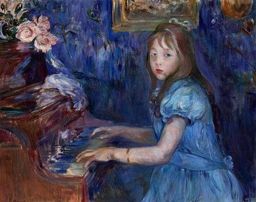 Berthe Morisot, Lucie Leon en el Piano, 1892