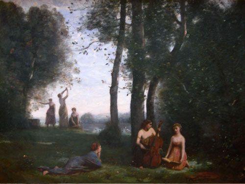 Camille Corot, Concierto en el campo, 1857.