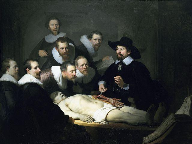 Rebrandt, Lección de anatomía del doctor NicolaesTulp, 1632, Mauritshuis, La Haya.