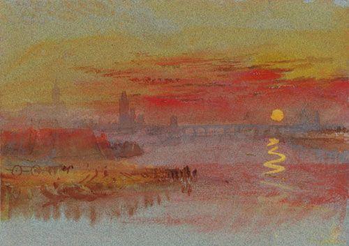 William Turner, The Scarlet sunset, 1830-1840.