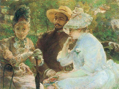 Marie Bracquemond, En la terraza de Sévres, 1880.
