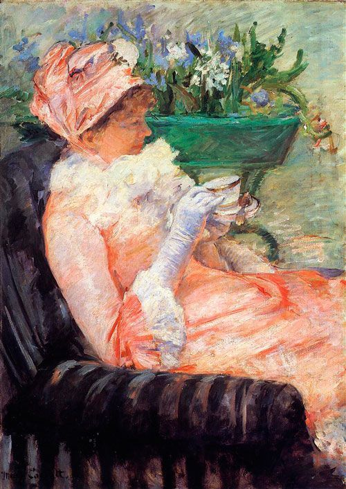 Mary Cassatt, La taza de té, 1879