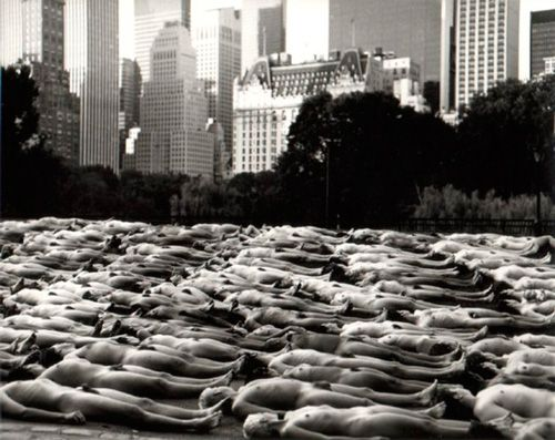 Spencer Tunick, Central Park.