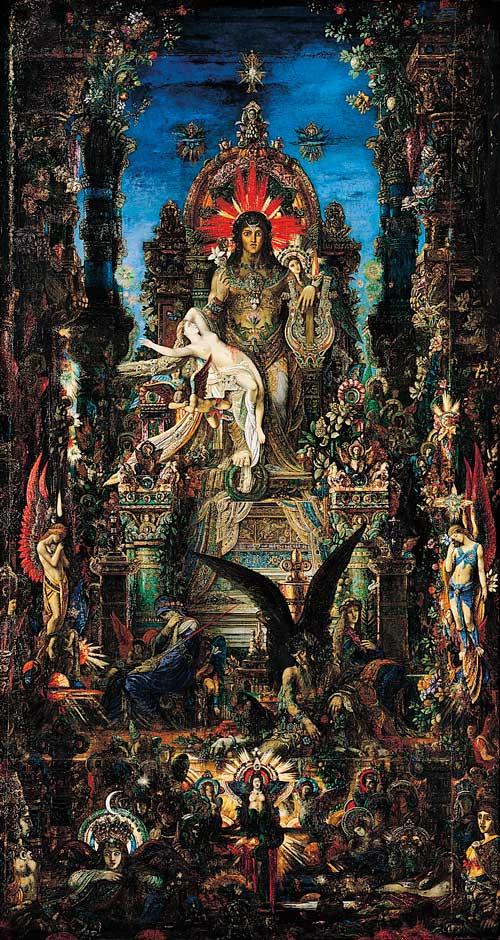 Moreau, Júpiter y Sémele, 1895, Moreau Museum, París.