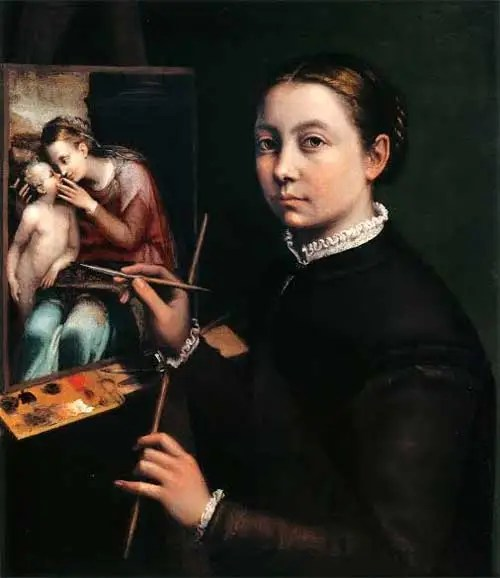 Sofonisba Anguissola, Autorretrato, 1556, Museo Lancut, Polonia