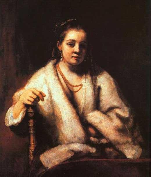 Rembrandt, Retrato de Hendrickje Stofells, 1659, National Gallery, Londres.