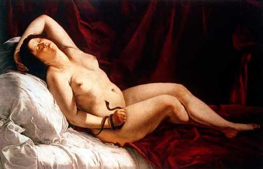 Artemisia Gentilleschi, Cleopatra, 1621-22, Milán.
