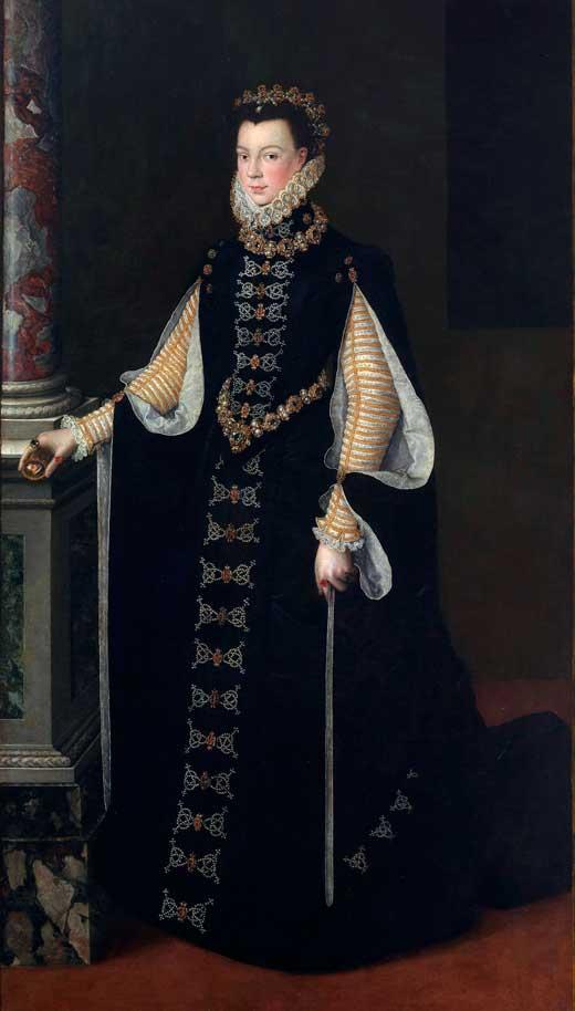 Isabel de Valois sosteniendo un retrato de Felipe II (1561-1565), Museo del Prado