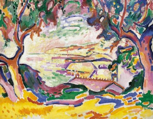 George Braque, Marina. L'Estaque, 1906, Museo Thyssen-Bornemisza, Madrid.