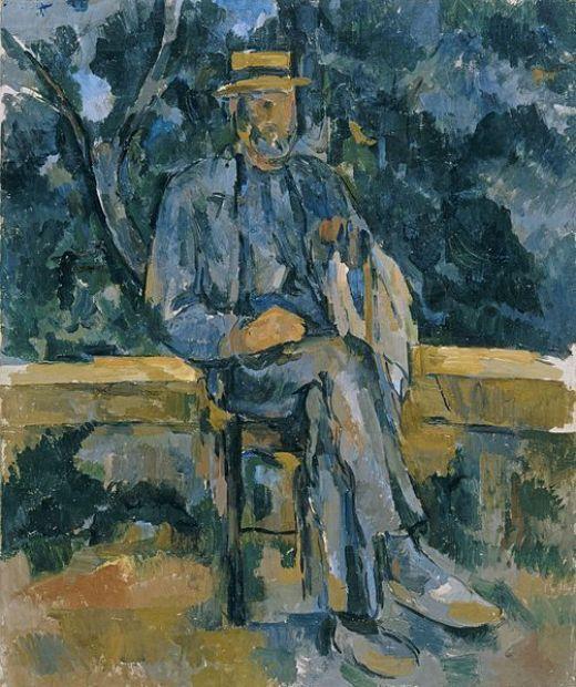 Paul Cézanne, Retrato de un campesino, Museo Thyssen-Bornemisza, c. 1905, Madrid.