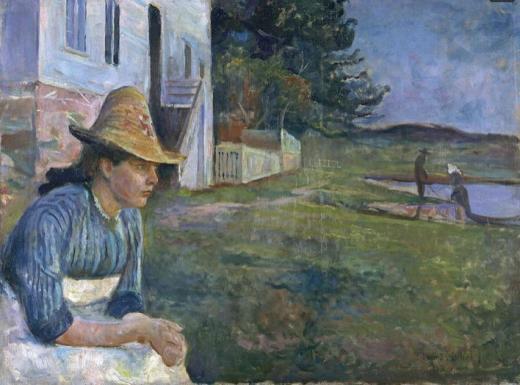 Edvard Munch, Atardecer (la hermana del artista), 1888, Museo Thyssen-Bornemisza, Madrid.