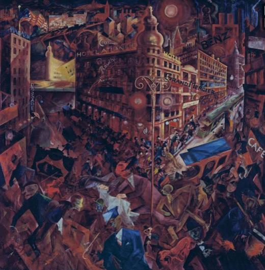 George Grosz, Metropolis, 1916-17, Museo Thyssen-Bornemisza, Madrid.