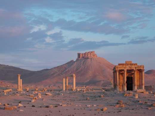 Ruinas de la antigua ciudad de Palmira, Siria