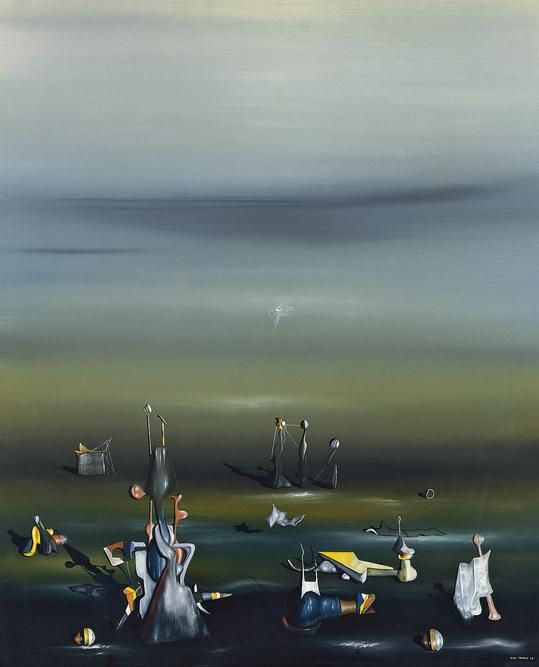 Yves Tanguy, Todavía y siempre, 1942, Museo Thyssen-Bornemisza, Madrid.