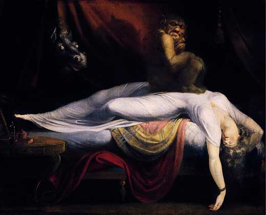 John Henry Fuseli, La Pesadilla, 1781, Detroits Institute of Arts, Detroit, Estados Unidos