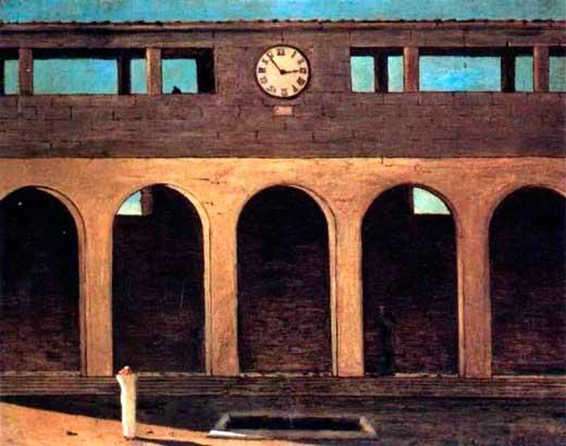 Giorgio de Chirico, El enigma de la hora, 1912.