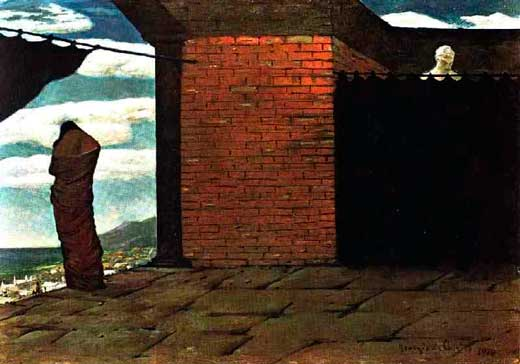 Giorgio de Chirico, El enigma del oráculo, 1910.