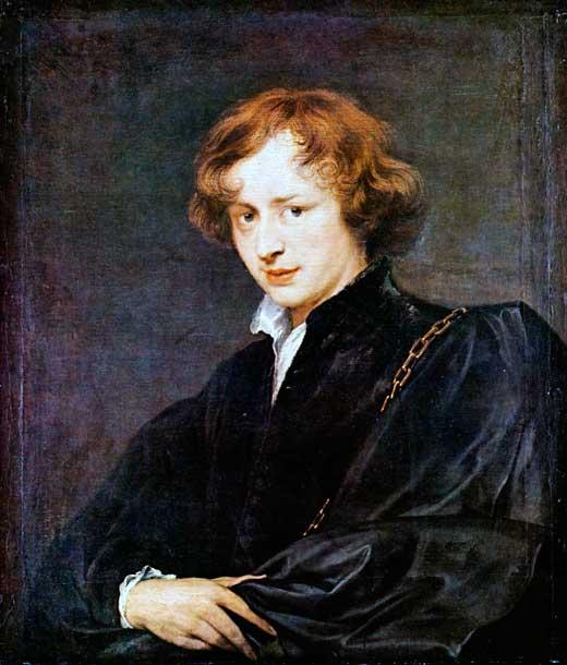 Anton van Dyck, Autorretrato, Alte Pinakothek, Munich, Alemania.