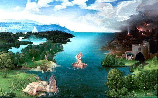 Joachim Patinir, El paso de la laguna Estigia, 1519-24, Museo del Prado, Madrid.