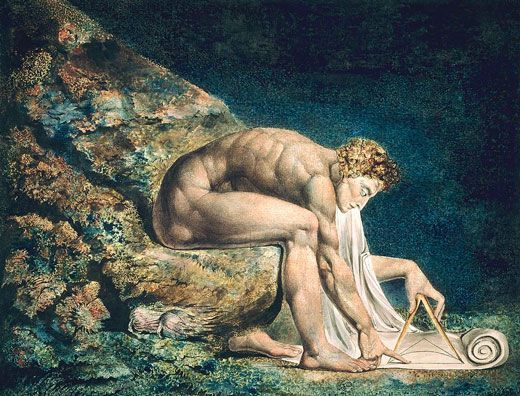 William Blake, Newton, 1795-1805, Tate Britain, Londres