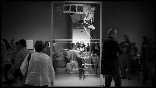 Marcel Ducham, El Gran Vídrio (La novia desnudada por su soltero, incluso), 1915-23. En una exposición temporal en el MNAC de Barcelona.