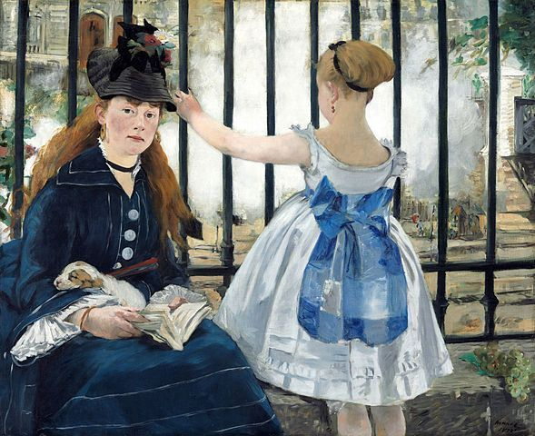 Manet, El ferrocarril, National Gallery of Art, Washington, 1873.