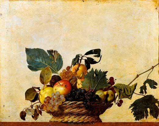 Cesto con frutas