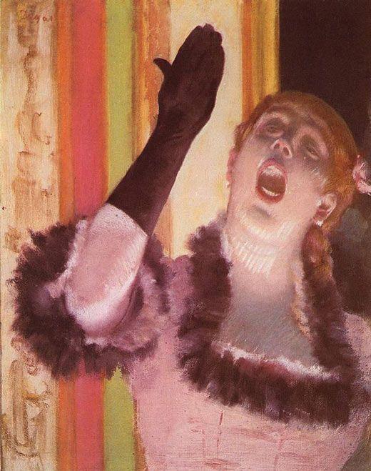 pintura cantante con el guante