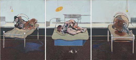 Tres estudios de figuras en camas