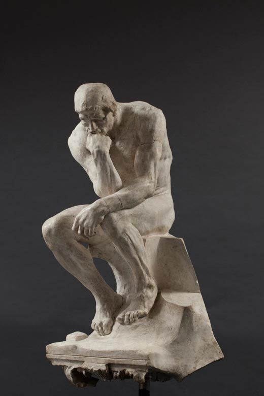 El Pensador sobre elemento de capitel, 1881-1888