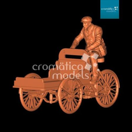 CM-35017 Delivery tricycle with Civil rider and open cargo tray