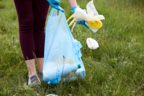 Bags suitable for litter picking available from Cromwell Polythene