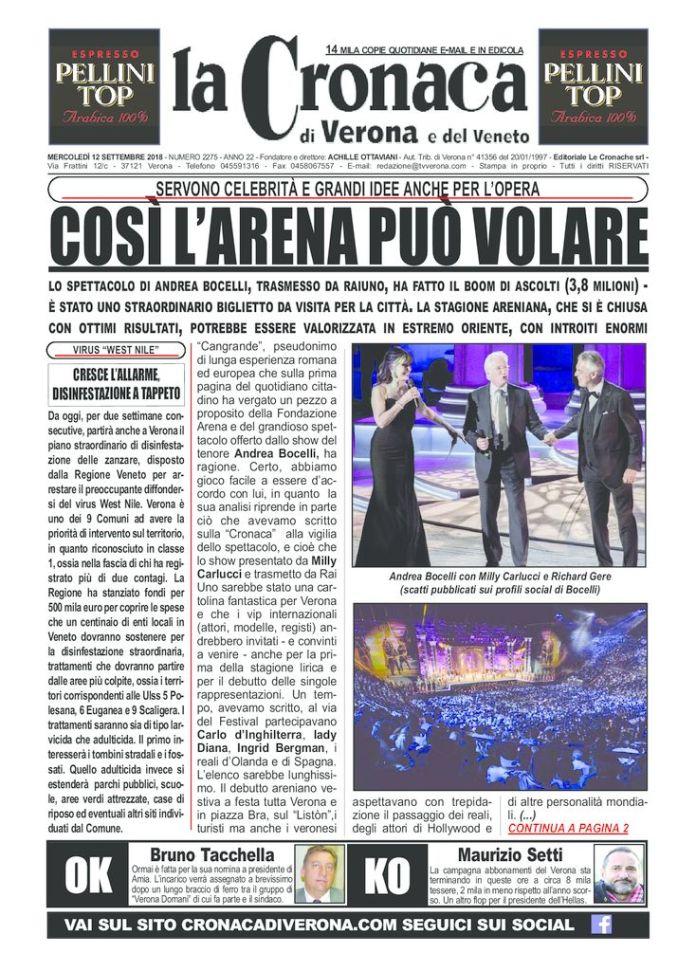 thumbnail of La Cronaca di Verona 12 9 2018
