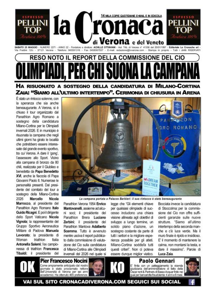 thumbnail of La Cronaca di Verona 25 Maggio 2019