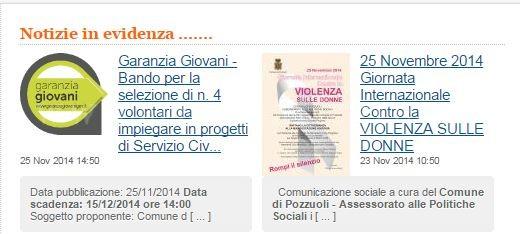 Gli annunci pubblicati sul comune di Pozzuoli