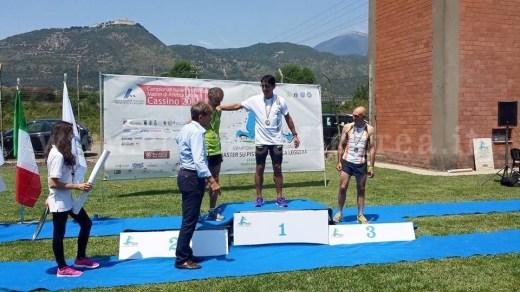 Il podio degli 800m